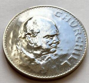 Superb Uncirculated 1965 Winston Churchill Commemorative Crown & Perspex Capsule