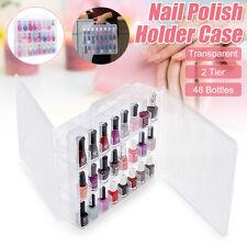 48 Grid Portable Nail Polish Holder Display Container Case Organizer Storage