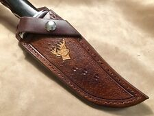 Custom Leather Sheath w/deer for Buck 119