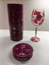 """My Personal Valentines"" LOVE MY WINE Lolita Wine Glass Santa Barbara Design"