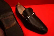 $759.00 !! GUCCI MEN'S ICONIC BROWN LEATHER HORSE BIT LOAFERS MARKED SIZE 6