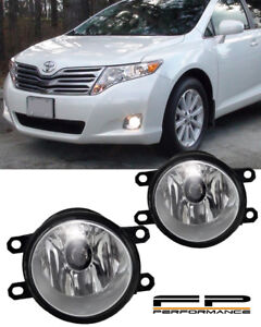 For 2009-2015 Toyota Venza Clear Replacement Fog Light Housing Assembly Pair