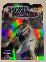1999 Topps Chrome Roger Clemens Refractor Power Brokers Die Cut