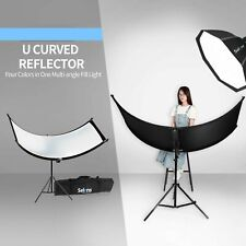 Selens 4in1 Clamshell Photography Light Reflector Diffuser Kit U-Shape Curved