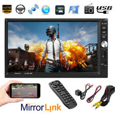 "New 7"" 2DIN Touch Screen Car MP5 Player Bluetooth Stereo FM Radio USB  In-Dash"