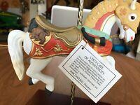 RARE 1987 HOMCO HOME INTERIORS PORCELAIN MASTERPIECE CAROUSEL HORSE FIGURINE