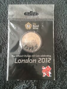 Sealed Royal Mint London The Official Olympic £5 coin celebrating London 2012