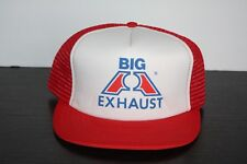 Vintage Big A Exhaust Trucker Hat Red Mesh Car Truck Shop Auto Parts Store Red