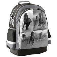 c893ec9e5daeb Paso mehrfarbig Licht Rucksack Schulrucksack Schultasche mit Pferd