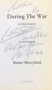 BUSTER MERRYFIELD AUTHENTIC SIGNED BOOK PAGE OFAH AFTAL#198
