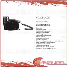 ASCIUGACAPELLI DA PARETE COLORE NERO 2 VELOCITA'  1400W 220X98X170 ART.HD20BLACK