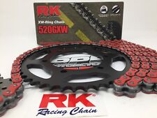 Red 2007-08 Suzuki GSXR1000 RK GXW520 17/45 Quick Accel Chain and Sprocket Kit