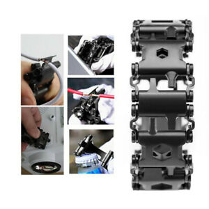 Outdoor Metal Splice Bracelet Multi Functional Wear Screwdriver Tool Hand Chain