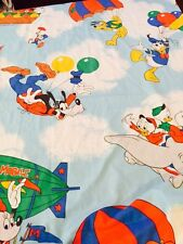 Mickey Air Mobile Vintage Walt Disney Curtains Set of 4 Cutter Fabric Balloon