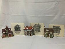Department 56 DICKENS LANE Set Of 3 Shops With Boxes And Sleeves