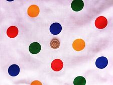 Multicolour large polkadot spot poly/cotton fabric/Material - Children in Need