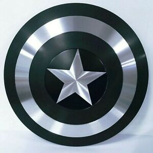 Medieval Captain America Superhero Shield In Black Finish Decorative Shield Gift