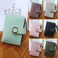 Women Leather Small Mini Wallet Card Money Holder Coin Purse Case Clutch Handbag