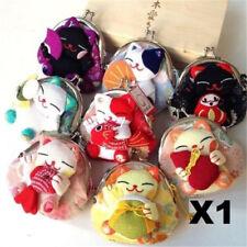 X1 Random Maneki Neko Fabric Coin Wallet Lucky Fortune Cats Wallet Purse Gift