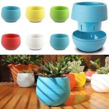 Mini Colorful Cute Round Garden Office Decor Planter Plastic Plant Flower Pot