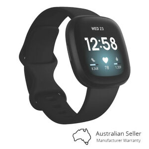 Fitbit Versa 3 Advanced Fitness Watch - Black/Black