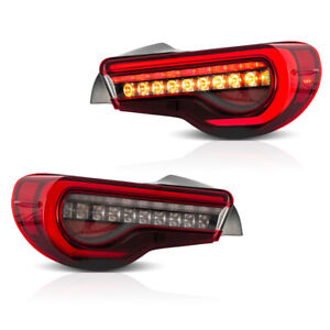 VLAND 2* LED Red Tail Lights Fit For Toyota 86 & Subaru BRZ & Scion FR-S Sets