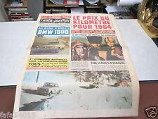 L AUTO JOURNAL N° 341 9 01 1964 BANC D ESSAI BMW 1800 RALLYE MONTE CARLO *