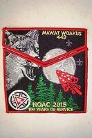 OA MAWAT WOAKUS 449 BLACK SWAMP 2-PATCH FOX 100TH ANN 2015 NOAC FLAP 200 MADE