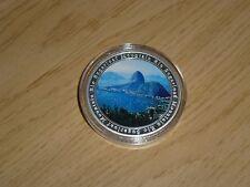 Rio SOUVENIR OLIMPIADI Sugarloaf Mountain argento placcati MEDAGLIA SOUVENIR