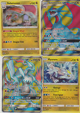 4x Pokemon Card: WHITE KYUREM & SALAMENCE GX SM139 SM141 Dragon Majesty Box NM