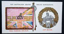 South Wales Borderers  1st Battalion Colours  Vintage Card  # VGC