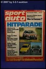 Sport Auto 12/78 Porsche 924 turbo DB 450 SLC Rallye
