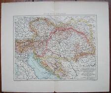 Dänische Landkarte Österreich-Ungarn K.u. K.um 1902