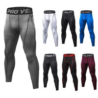 Men's Compression Pants Running Thermal Workout Base Layers Wicking Tight fit