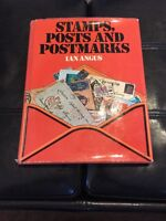 Stamps, Posts and Postmarks, by Ian Angus, Hardcover Free Shipping