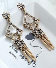 1 pair Elegant White Crystal Rhinestone  Ear Drop Dangle Stud long  Earrings 74