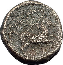 ALEXANDER III the GREAT Lifetime 336BC Ancient Greek Coin APOLLO & HORSE i64435