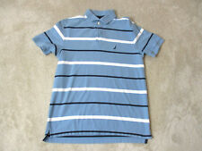 Nautica Competition Polo Shirt Adult Small Light Blue White Sailing Rugby Mens