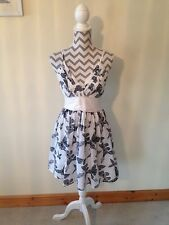 ATTRACTIVE SUMMER DRESS BY MELA LOVES LONDON SIZE 12 Grey Butterflies Cotton