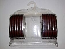 Set of Green and Set of Brown Plastic Easy Closure Shower Curtain 12 Rings Each
