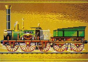 Mini Stecksystem Dampflok Nürnberger Adler ca. 9.200 Teile mit XXL-Steckvorlage