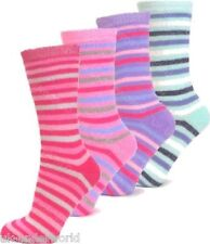 3 Pairs Ladies Stripe Design Thermal Socks Warm Winter Extra Thick Hiking Boots