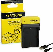 PATONA Slim Chargeur compatible avec Canon LP-E6  avec cable micro USB