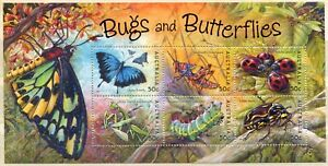 FAUNA_A1_282 2003 Australia butterflies bugs insects SHEET MNH Combined payments