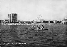 Cartolina - Pesaro - panorama dal mare - pattino - anni '60