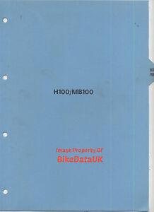 Honda H100-A (1980-1984) Genuine Dealers PDI Set-Up Manual MB100 MB H 100 CM23