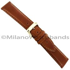 20mm Speidel Genuine Padded Oiled Leather Light Brown Mens Watch Band 5004 730
