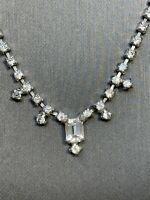 Stunning 1950's Clear Rhinestones Vintage Necklace Wedding Flower Girl 14""