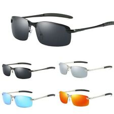 Men's Rimless Polarized Sunglasses UV400 Outdoor Sports Driving Glasses Eyewear