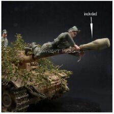 1/35 Escala Kit de modelo de resina StuG III Crew contiene una figura y Bozal Cubierta